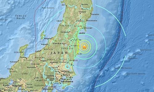 động đất Nhật Bản