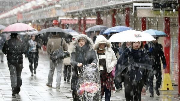 tuyết rơi Nhật Bản