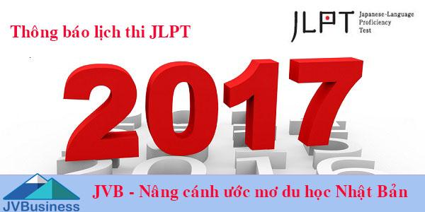 lịch thi JLPT năm 2017