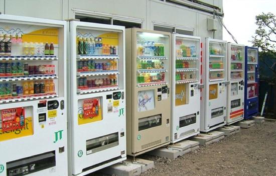 Máy bán hàng tự động ở khắp nơi tại đất nước Nhật bản