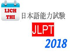 Lịch thi JLPT năm 2018