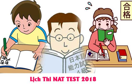 Lịch thi NAT TEST 2018