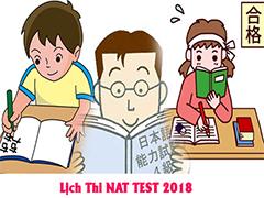 Lịch thi NAT TEST 2018 bạn cần biết