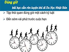 Cần rèn luyện thói quen đúng giờ khi đi du học Nhật Bản