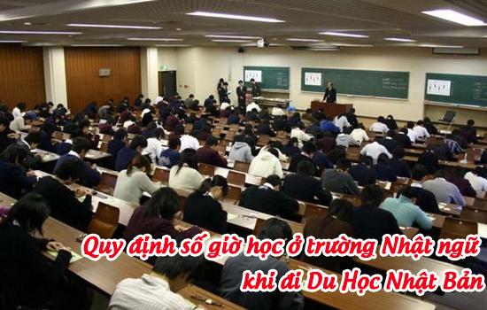 Quy định số giờ học ở trường Nhật ngữ khi đi du học Nhật Bản