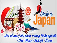 Lưu ý khi chọn trường đi du học Nhật bản