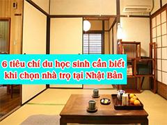 Lưu ý thuê nhà trọ khi đi du học Nhật bản