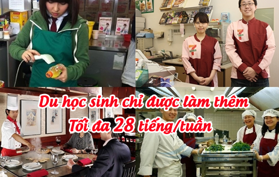 Khi đi du học Nhật Bản, du học sinh được làm thêm 28 giờ/tuần